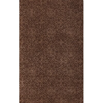 Serendipity Ghent Hand-Tufted Chocolate Area Rug Rug Size: 76 x 96