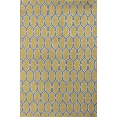 Welborn Yellow Area Rug Rug Size: 8' x 10'