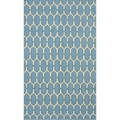Zara Sky Blue Area Rug Rug Size: 8 x 10
