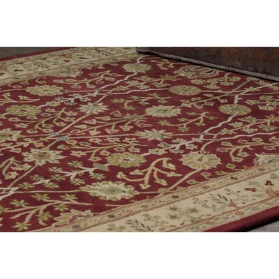 Earlville Red / Gold Benedict Area Rug Rug Size: Runner 26 x 86