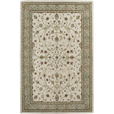 Cardinal Ivory / Seafoam Pius Area Rug Rug Size: Runner 26 x 12