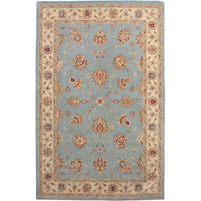 Parishville Light Blue / Ivory Clement Area Rug Rug Size: Round 6