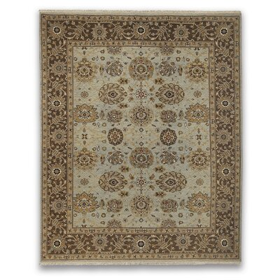 Soumak Liverpool Light Blue/Brown Area Rug Rug Size: 9 x 12