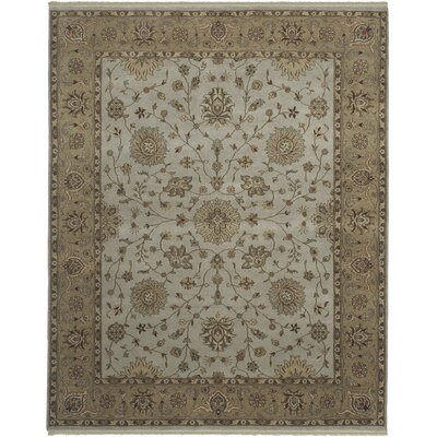 Cowen Mint/Mocha Area Rug Rug Size: Rectangle 9 x 12