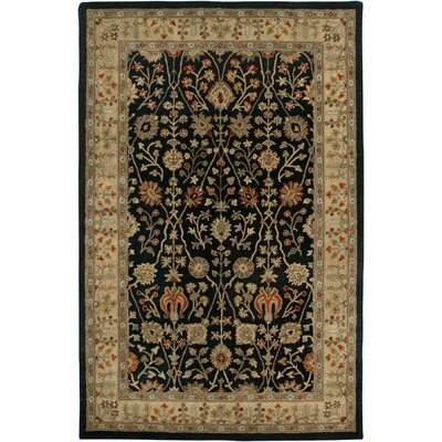 Earlville Ebony / Gold Benedict Area Rug Rug Size: Rectangle 2 x 3