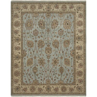 Oasis French Blue/Beige Nile Area Rug Rug Size: 2 x 3