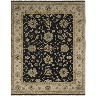 Cowen Ebony/Beige Area Rug Rug Size: Rectangle 2 x 3