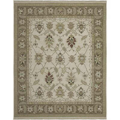 Cowden Ivory/Chocolate Area Rug Rug Size: 9 x 12