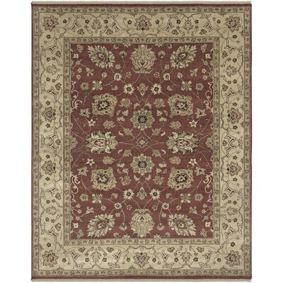 Cowen Rust/Gold Area Rug Rug Size: Rectangle 9 x 12
