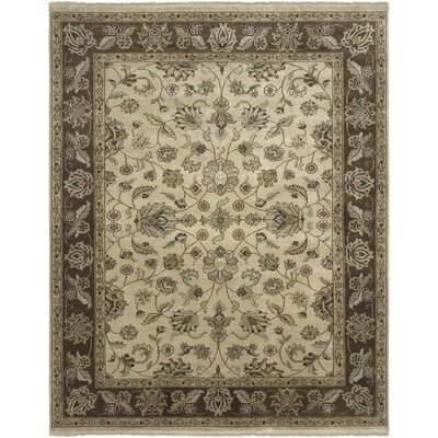 Oasis Beige/Brown Tuat Area Rug Rug Size: 6 x 9