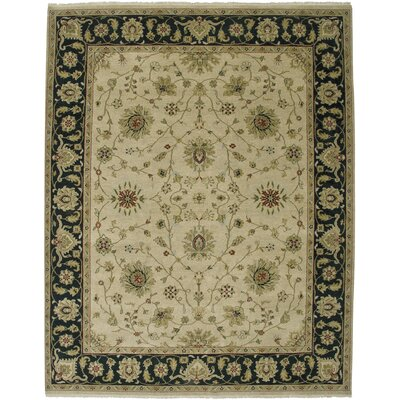 Cowen Beige/Ebony Area Rug Rug Size: Rectangle 2 x 3