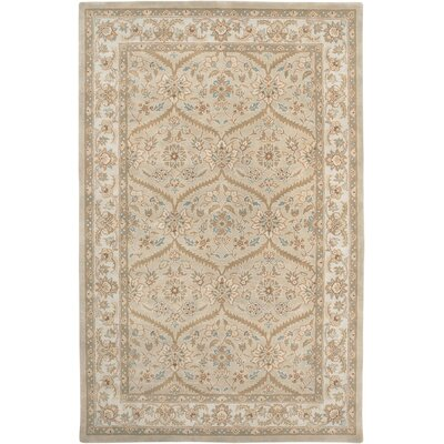 Blackwelder Hand-Woven Wool Beige Area Rug Rug Size: Rectangle 2 x 3