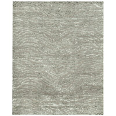 Synergy Jungsi Design Hand-Knotted Sage Green Outdoor Area Rug Rug Size: 10 x 14