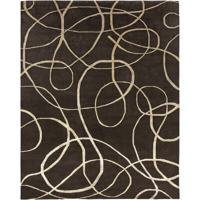 Xara Brown Area Rug Rug Size: 6 x 9