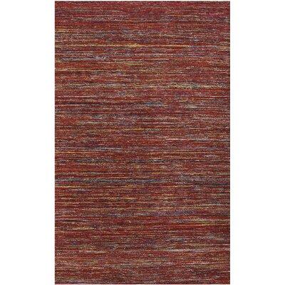 Banaras Red Area Rug Rug Size: 5 x 8