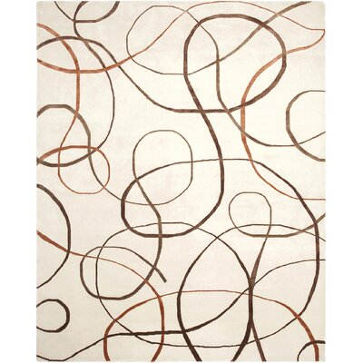 Synergy Xara Brown Area Rug Rug Size: 6 x 9