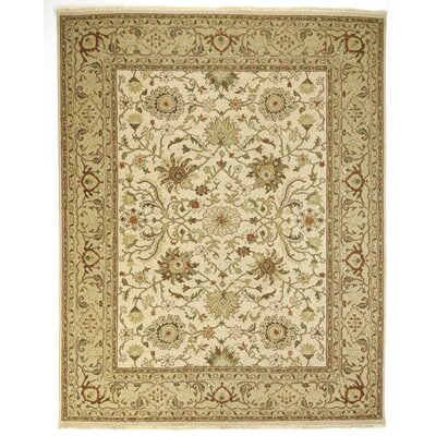 Branner Ivory/Gold Area Rug Rug Size: 2 x 3