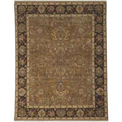 Antiquity Pompeii Oak/Dark Tan Area Rug Rug Size: 9 x 12
