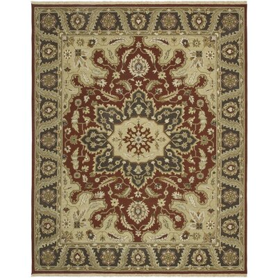 Soumak Longlett Red/Cocoa Brown Area Rug Rug Size: 8 x 10