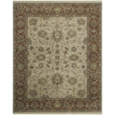 Victoire Beige/Red Area Rug Rug Size: Rectangle 9 x 12