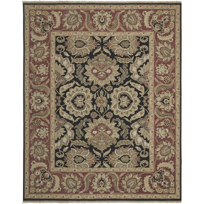 Branner Ebony/Red Area Rug Rug Size: 6 x 9