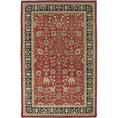 Earlville Paprika / Ebony Benedict Area Rug Rug Size: Rectangle 76 x 96