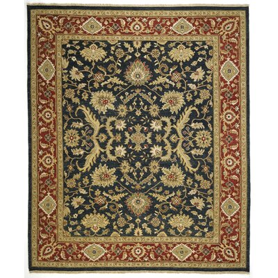Soumak Leeds Navy/Red Area Rug