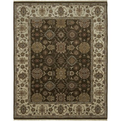 Victoire Chocolate/Beige Area Rug Rug Size: Rectangle 9 x 12