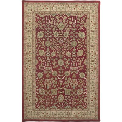 Earlville Red / Gold Benedict Area Rug Rug Size: Rectangle 76 x 96
