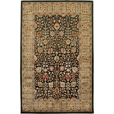 Cloverdales Ebony/Gold Area Rug Rug Size: Rectangle 56 x 86