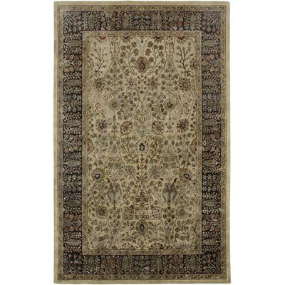 Cloverdales Gold/Ebony Area Rug Rug Size: Rectangle 5'6
