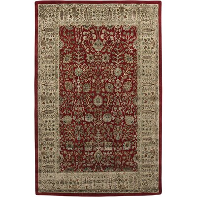 Roshni Abhati Red/Gold Area Rug Rug Size: 76 x 96