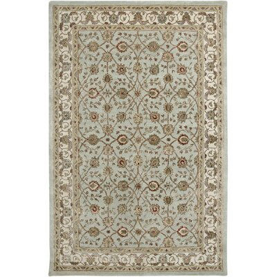 Cloverdales Light Blue/Ivory Area Rug Rug Size: Rectangle 2 x 3