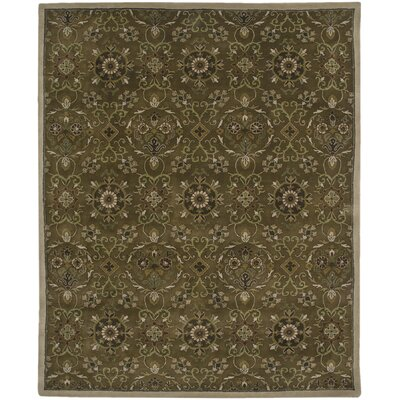 Soho Hand-Tufted Dark Brown Area Rug Rug Size: 5'6