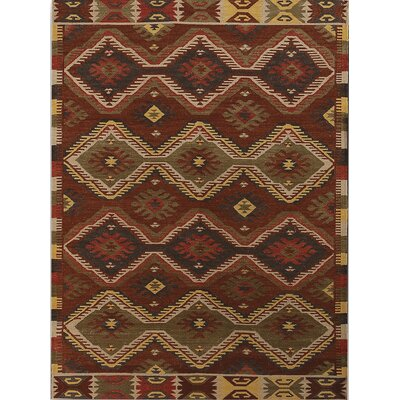 Makamani Burned Orange Rug Rug Size: 5 x 8