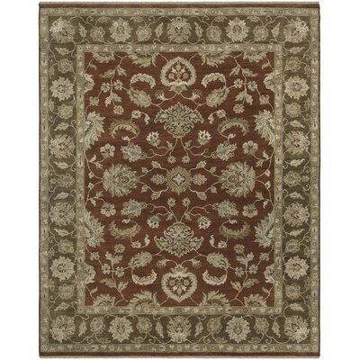 Rojas Design Red Hand-Knotted Area Rug Rug Size: 4 x 6