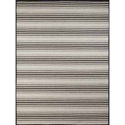 Dunlar White-Gray Indoor/Outdoor Area Rug Rug Size: 5 x 77