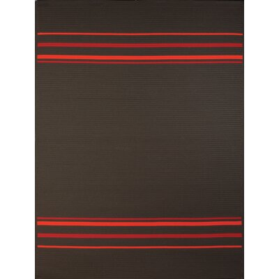 Bowes Charcoal Indoor/Outdoor Area Rug Rug Size: 77 x 97