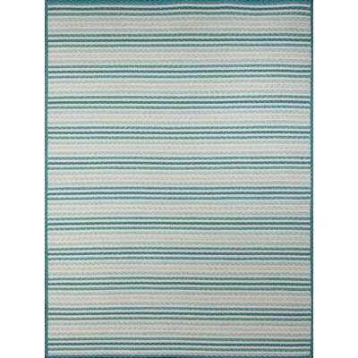 Dunlar Blue Indoor/Outdoor Area Rug Rug Size: 5 x 77