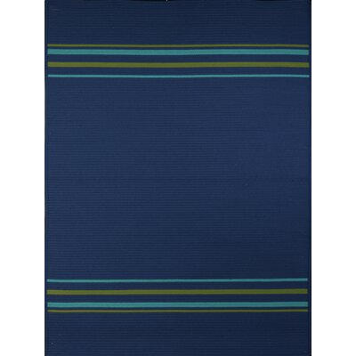 Morro Bay Blue Indoor/Outdoor Area Rug Rug Size: 77 x 97