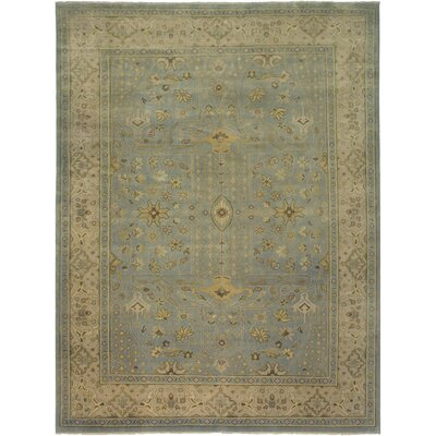 Sivas Design Light Blue Hand-Knotted Area Rug Rug Size: 9 x 12