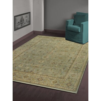 Liverpool Light Blue Hand-Knotted Area Rug Rug Size: 10 x 14