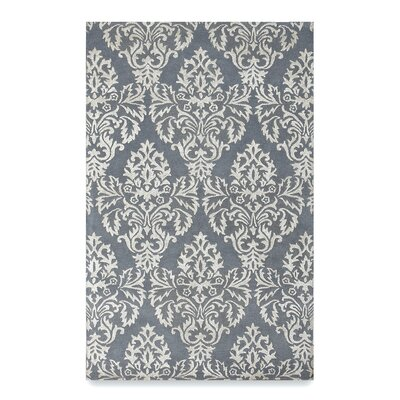 Brightwood Steel Gray Area Rug Rug Size: 5 x 8