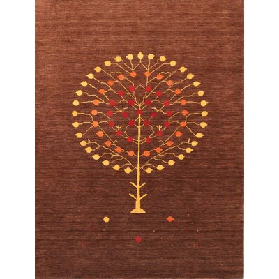 Pressley Natural Brown Area Rug Rug Size: 5 x 8