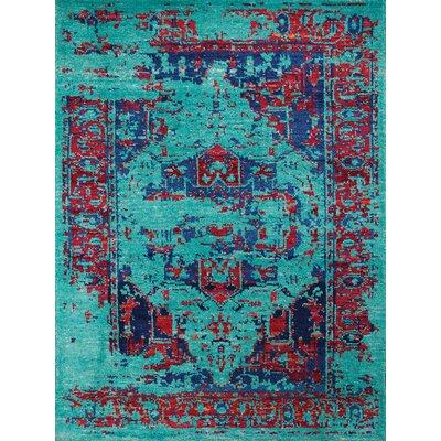 Silkshine Turquoise Area Rug Rug Size: 3 x 5