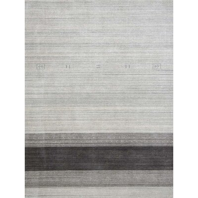 Works Blend Hand Woven Silk Light Gray Area Rug Rug Size: 9 x 12