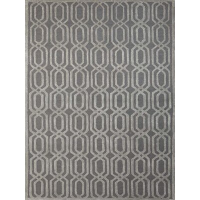 Carlstadt Stone Blue Area Rug Rug Size: 76 x 96