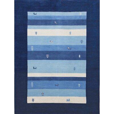 Nomadic Navy Blue Area Rug Rug Size: 9 x 12