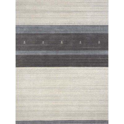 Frandsen Blend Hand Woven Silk Ivory Area Rug Rug Size: 4 x 6