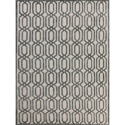 Carlstadt White Area Rug Rug Size: 8 x 11